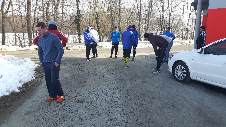 Dobro vzdušje na pripravah članske ekipe